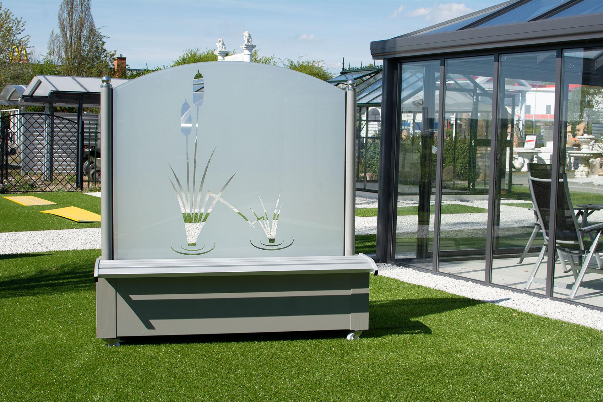 mobiler Windschutz aus Aluminium   Garten Heinemann